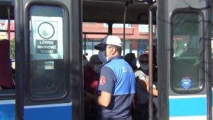 Kırıkkale'de toplu taşıma araçlarında korona virüs denetimi