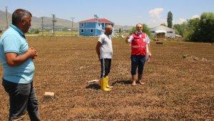 Kızılay Varto Şube Başkanı Yonat sel bölgesinde incelemelerde bulundu
