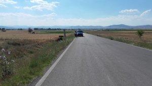 Kontrolden çıkan traktör devrildi, 1 kişi yaralandı