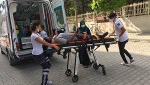 Konya'da otomobilin çarptığı yaya hastaneye kaldırıldı