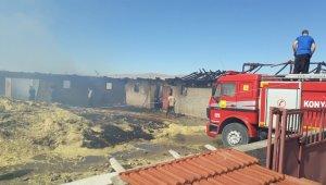 Kulu'da ağıl yangını