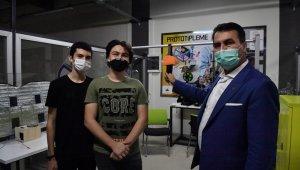 Liseli gençlerden virüsü önleyecek akıllı otobüs tutacağı - Bursa haberleri