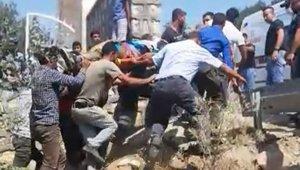 Mardin'de beton mikseri şarampole yuvarlandı: 1 yaralı