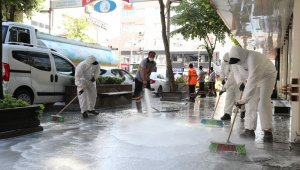 Mega Center'da temizlik ve dezenfekte çalışması