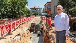 Merkezefendi Mahallesine ilk defa yağmur suyu hattı döşenecek