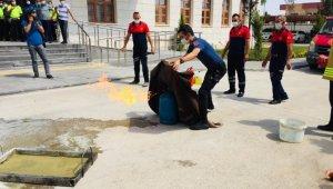 Midyat Emniyet Müdürlüğünde yangın tatbikatı