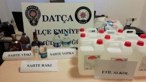 Motosiklette sahte içki bulunduran şahıs gözaltına alındı