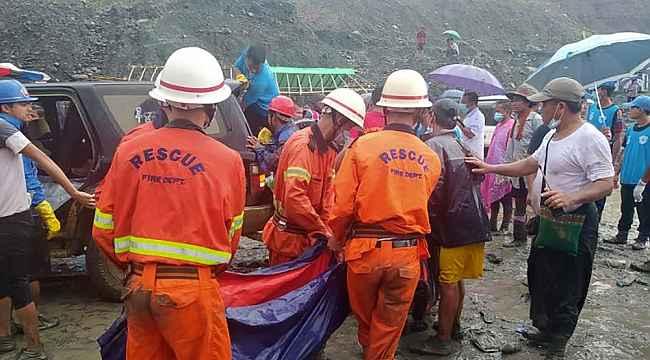 Myanmar'da madende heyelan... Ölenlerin sayısı 100'ü geçti