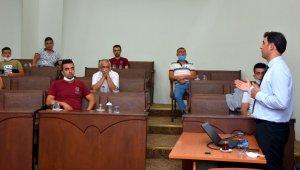 Nazilli'de belediye personeline korona eğitimi verildi