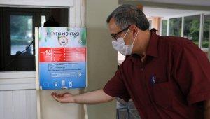 Öğretmenler dezenfektan makinesi üretip pazarlıyor