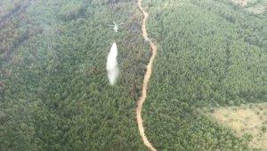 Orman yangınları termal drone ve İHA'larla izlendi