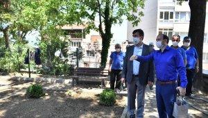 Osmangazi'de yıkılan tarihi istinat duvarı yenilendi