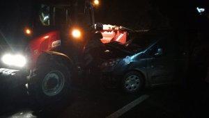 Pasinler'de trafik kazası: 1 ölü 3 yaralı