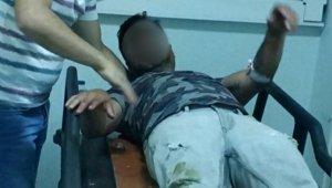 Polise yakalanmamak için balkondan atlayınca ölümden döndü