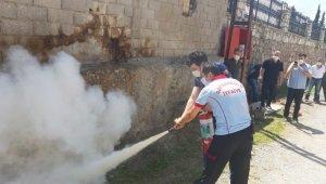 Safranbolu Belediyesinden yangın eğitimi