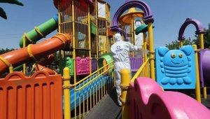 Şahinbey'de parklar dezenfekte ediliyor