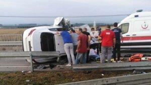 Samsun'da trafik kazası: 5 kişi ağır yaralı