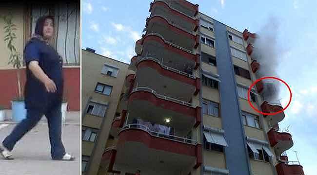 Sinir kriz geçiren kadın, kocasının eşyalarını balkonda yakmaya kalktı