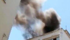 Söndürülmeden atılan sigara izmariti yangına neden oldu