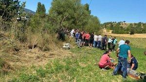 Uşak'ta trafik kazası; 1 ölü, 1 yaralı
