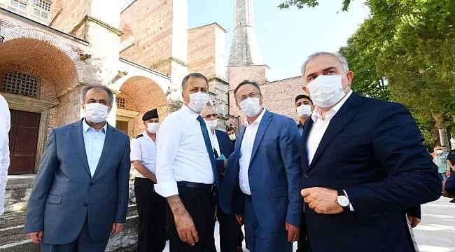 """Vali Yerlikaya: """"Ayasofya Camii'nin ibadete açılması için yapılan hazırlıklarımız devam ediyor"""""""