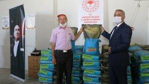Vezirköprü ve Havza'da 6 ton silajlık mısır tohumluğu dağıtıldı