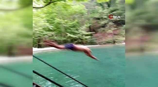 Alanya'da korkunç olay... Havuza atladı, kısmi felç geçirdi