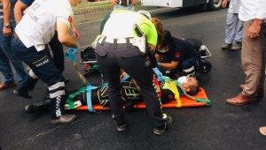 Aydın'da trafik kazası: 1 polis memuru yaralı