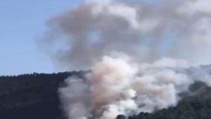 Aydos Ormanlarında yangın çıktı