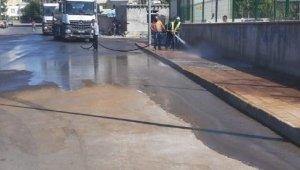 Bağlar'da Kurban Bayramı sonrasında cadde ve sokaklar dezenfekte edildi