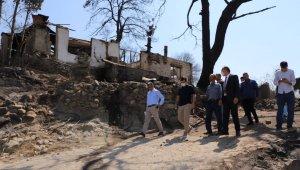 Başkan Akın'dan orman yangınının yaşandığı mahallelere ziyaret
