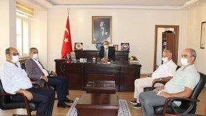 Başkan Kaplan'dan Kaymakam Tepeli'ye ziyaret