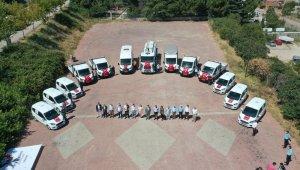 Bilecik Belediyesi tarafından satın alınan 14 araç hizmet vermeye başladı