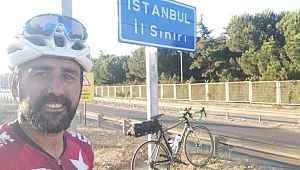 Bisikletle 5 günde Marmara Denizi'nin etrafını dolaştı - Bursa Haberleri
