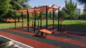 Büyükşehir, ilk workout spor istasyonunu kurdu