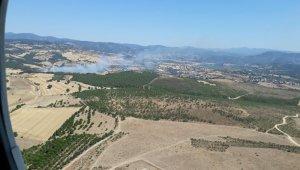 Çanakkale Özbek köyünde orman yangını