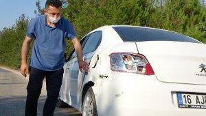 Dedektif gibi iz sürdü, arabasına çarpan aracı buldu - Bursa Haberleri