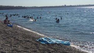 En acı kare... Hiçbir şey olmamış gibi yüzmeye devam ettiler
