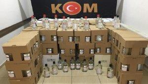 Didim'de 1204 şişe etil alkol ele geçirildi