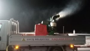 Erciş Belediyesinden sivrisinekle mücadeleye çalışması