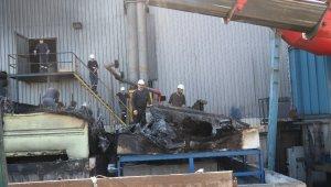 Gerede OSB'de metal fabrikasının soğutma kuleleri yandı