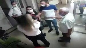 Hastanede kadın güvenlik görevlisine yumruklu saldırı