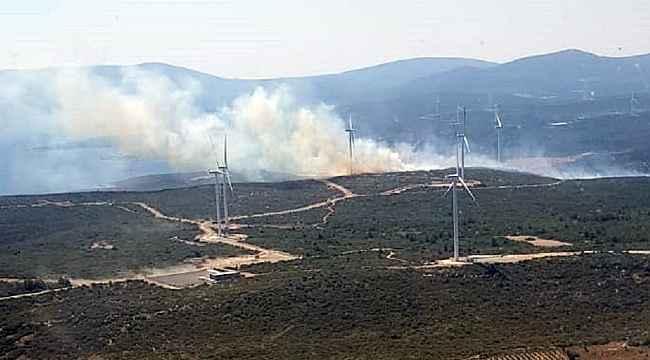 İzmir Seferihisar'da çıkan orman yangını kısmen kontrol altında