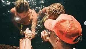 Justin Bieber ve eşi Hailey Baldwin Bieber, birlikte vaftiz oldu