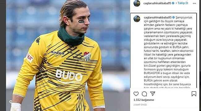 Kaleci Çağlar Şahin Akbaba'dan Bursaspor'a veda - Bursa Haberleri