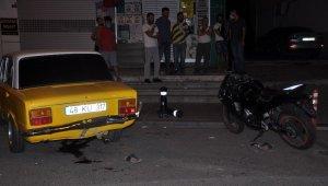 Aşırı hızlı motosikletli virajı alamadı otomobilin altına girerek hayatını kaybetti
