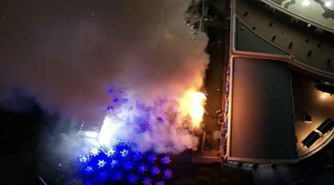 Konya'da otel bahçesinde yangın paniği