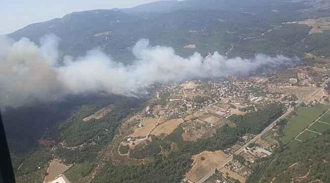 Menderes'teki orman yangını devam ediyor