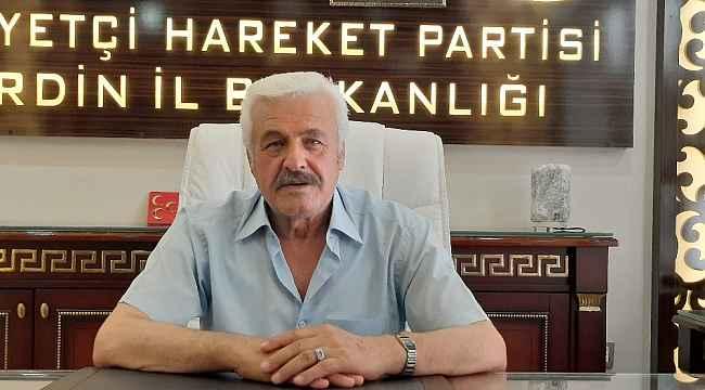 """MHP Mardin İl Başkanı Bozkuş: """"Tabela partisi olmayacağız, hedefimiz seçimlerde birinci sırada yer almak"""""""