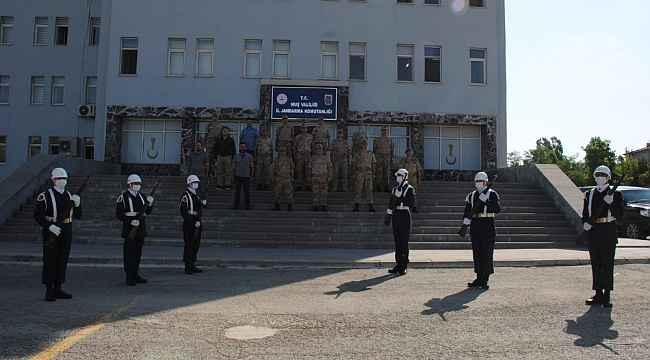 Muş İl Jandarma Komutanlığında devir teslim töreni